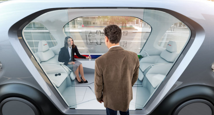 Si apre il CES 2019 ed ecco gli shuttles by Bosch